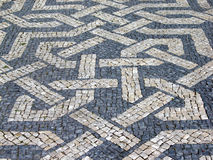 Typical portuguese cobblestone pavement Royalty Free Stock Images