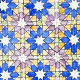 Typical portuguese decorations with colored ceramic tiles royalty free stock image