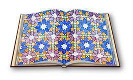Typical portuguese decorations with colored ceramic tiles called. `Azulajos` - 3D Opened photobook - I`m the copyright owner of the images used in this 3D stock illustration