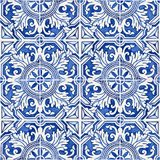 Typical Portuguese decorations with colored ceramic tiles - frontal view.  stock photo