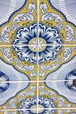 Typical Portuguese decorations with colored ceramic tiles - perspective view royalty free stock photo