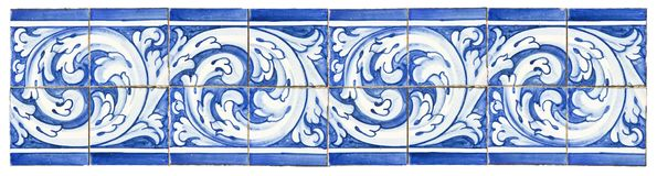 Typical Portuguese decorations with colored ceramic tiles. It`s stock images