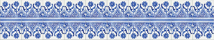 Typical Portuguese decorations with colored ceramic tiles - seam stock photos