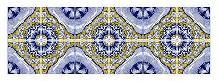 Typical Portuguese decorations with colored ceramic tiles - seam royalty free stock photo