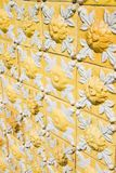 Typical Portuguese decorations with yellow ceramic tiles Portugal - Europe.  royalty free stock images