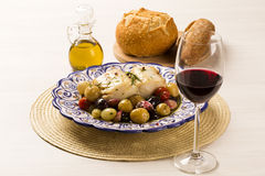 A typical Portuguese dish with codfish called Bacalhau do Porto Stock Image