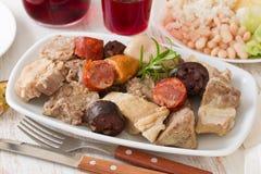 Typical portuguese dish cozido a portuguesa Royalty Free Stock Photos