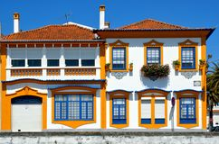Typical portuguese house in Aveiro stock images