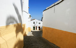 Typical Portuguese houses in Elvas Stock Image