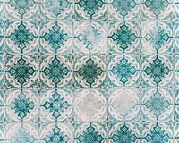Typical portuguese old beautiful tiles. stock image