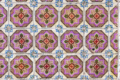 Typical Portuguese old ceramic wall tiles (Azulejos) in Lisbon, Stock Photos