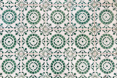 Typical Portuguese old ceramic wall tiles (Azulejos) in Lisbon, Royalty Free Stock Photos