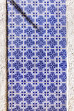 Typical Portuguese old ceramic wall tiles (Azulejos) in Lisbon, Royalty Free Stock Images