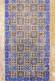 Typical Portuguese old ceramic wall tiles Azulejos, Portugal Royalty Free Stock Image