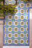Typical Portuguese old ceramic wall tiles (Azulejos) Royalty Free Stock Photos