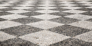 A typical portuguese stone pavement Royalty Free Stock Images