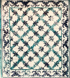 Typical Portuguese tiles, Blue Azulejo, spanish, italian and  mo. Roccan ornaments - Lisbon, Portugal December 26, 2016 Stock Image