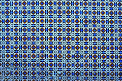 Typical Portuguese tiles, Blue Azulejo, spanish, italian and  mo Stock Photos