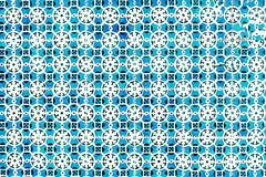 Typical Portuguese tiles, Blue Azulejo, spanish, italian and  mo. Roccan ornaments - Lisbon, Portugal December 26, 2016 Stock Photos