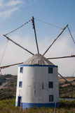 A typical Portuguese windmill Royalty Free Stock Photo