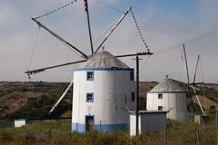 A typical Portuguese windmill Royalty Free Stock Images