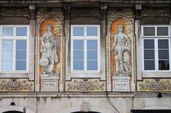 Typical portuguese windows Stock Photos
