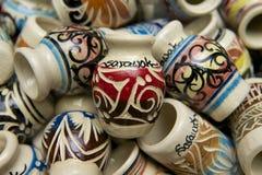 Typical pottery souvenirs from Sarawak, Kuching, Malaysia. Stock Photo
