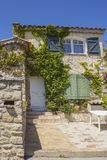 Typical Provencal stone house (called mas), Embiez Island, south of France Stock Images