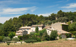 Typical Provence houses in Luberon, France Royalty Free Stock Photos
