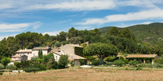 Typical Provence houses in Luberon, France Stock Image