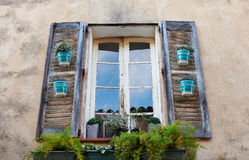 Typical Provence window in Saint Tropez Stock Photography