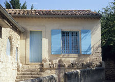 Typical Provencial House. A typical, quaint, rural house in Les Baux de Provence, France royalty free stock photography
