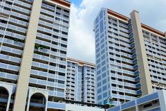 Typical public housing in Singapore Stock Photos