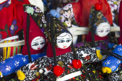 Typical puppets as Turkish souvenir Stock Photography