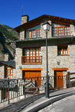 Typical Pyrenees cabin. Typical familiar building in a Pyrenees village Stock Photos