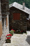 Typical Pyrenees houses Royalty Free Stock Photos