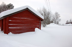 Typical red cottage in Sweden Royalty Free Stock Photo