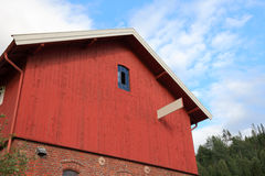 Typical red home. Royalty Free Stock Photography