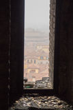 Typical red roofs of Bologna. View from Asinelli Tower. Emilia Romagna , Italy. Royalty Free Stock Photos