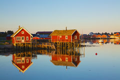 Fishing huts in Reine Royalty Free Stock Photo