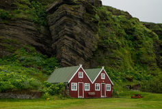 Typical red scandinavian house Royalty Free Stock Images