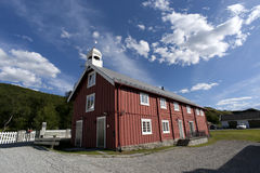 Typical red scandinavian wooden house Royalty Free Stock Photography