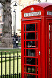 Typical red telephone booth in London Royalty Free Stock Images