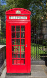 Typical Red Telephone Booth Royalty Free Stock Images