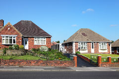 Typical redbrick english houses Stock Photos
