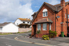 Typical redbrick house Royalty Free Stock Photo