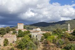Typical remote corsican village Stock Image