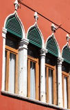 Typical renaissance windows in Venice Stock Images