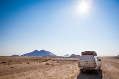Typical rent car in Namibia stock photos