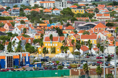 Typical residences and homes in Curacao. Dutch Antilles and Curacao residential district Royalty Free Stock Image